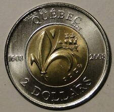 BU UNC Canada 1608-2008 400th anniversary Quebec city $2 toonie from mint roll