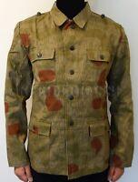 WWII German Tan & Water Camo M43 Field Tunic Size L