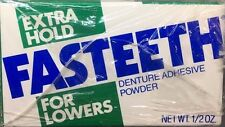 Fastteeth Denture Adhesive Powder For Lowers .5 oz 6PK Extra Hold Sample  #5639