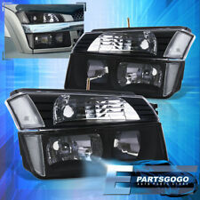 For 02 06 Chevy Avalanche Body Cladding Headlights Bumper Signal Lamps Black Fits More Than One Vehicle