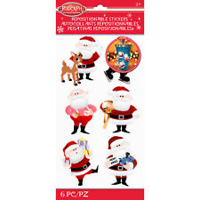 Scrapbooking Crafts Stickers Jolees Christmas Rudolph Santa Claus Repositionable