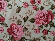 Michael Miller LincolnLane red/pink roses 100%cotton fabric,fat quarter,freep&p,