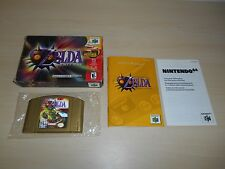 Legend Of Zelda Majora's Mask Complete Nintendo 64 N64 CIB Collector's Gold