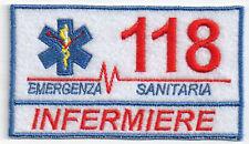 PATCH RICAMO TOPPA 118 SOCCORSO SANITARIO INFERMIERE DIVISA TUTA AMBULANZA