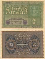50 Marcos. Alemania. 24 de Junio de 1919. Serie RE.a. Nº 459946.