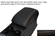 ORANGE STITCHING FITS AUDI Q5 2008-2013+ LEATHER ARMREST SKIN COVER ONLY