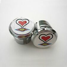 Vintage Style De Rosa Chrome Racing Bar Plugs, Caps, Repro