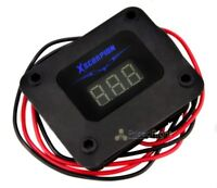 Xscorpion Black 3 Digit Digital Volt Meter Blue LED Car Audio Voltage Display