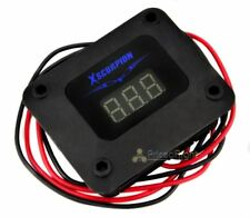 Xscorpion Black 3 Digit Digital Volt Meter Blue LED Car Audio Voltage Display