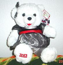 "2012 WalMART CHRISTMAS Snowflake TEDDY BEAR White Girl 20""Black/sivle Cothes New"