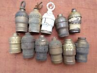 Lot of Antique Electric Lamp / Light Sockets For Parts or Restore