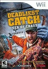 Deadliest Catch Sea of Chaos WII NEW!  DISCOVERY, CRAB FISHING, FISH, SHIP