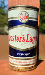 Fosters Lager flat top from Australia. 12.8 US fld oz.   EMPTY