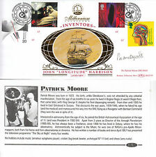 SIR PATRICK MOORE (deceased) HAND SIGNED BENHAM INVENTORS FDC - cover
