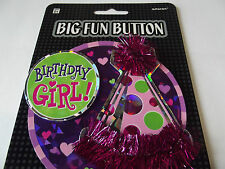 "Amscan Birthday Clothes Pin Badge. ""Birthday Girl"". Free P&P"
