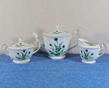 Nippon RC Mark Thistle China Teapot, Creamer, Sugar- 1949 Occ. Japan- N1220- EUC