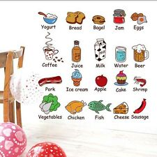 Kitchen Food Removable Cute Vinyl PVC Wall Decal Mural Bedroom Art Decor Sticker