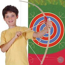 En bois arc et flèches Set avec 42 cm en carton cible-fun children's Toy