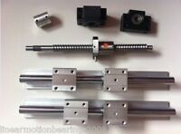 2 x SBR20-500mm linear rail guides +1 ballscrew RM2005+1 BK/BF15 &1 coupling