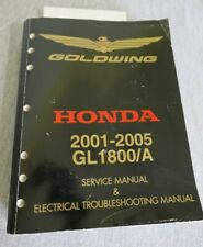 2001-2005 Honda Goldwing Service & Electrical Troubleshooting Manual Gl1800/A (Fits: Honda)
