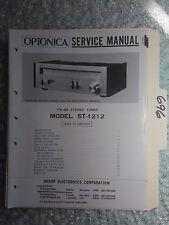 Optonica st-1212 Sharp service manual original repair book stereo tuner receiver