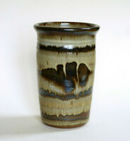 Studio Pottery Vase Farmer Signed Vintage MCM Art Ceramic Decor Gift Handmade
