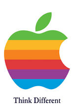 Steve Jobs Poster Apple Mac iPhone Logo Poster Think Different Poster