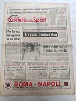 CORRIERE DELLO SPORT 10-2-1979 INTER JUVENTUS GUARDUCCI GARONZI MENICUCCI