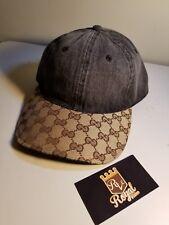 Customize Gucci Dad Hat Denim Black Adjustable fb6bec9e88a