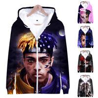 XXXtentacion Hip Hop Top 3D Print Printed Hoodie Sweatshirt Cotton Zipper Coat