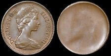 More details for elizabeth ii. royal mint error one pence 1p, 1978. uniface with slight ghosting.