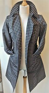 M&S Woman Marks & Spencer Trench Coat Ladies Womens Size 16 Black Faun Smart!