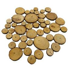 50x Wooden Wood Log Slices Discs Round Decorative Rustic Wedding Pyrography