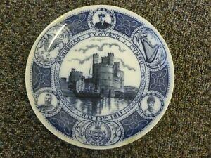 Prince Edward Viii Investiture 1911 Commemorative Plate July 13th 1911