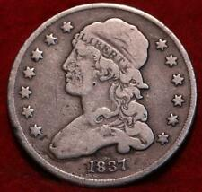 1837 Philadelphia Mint Silver Capped Bust Quarter