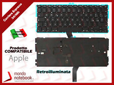 "Tastiera Notebook APPLE Macbook Air 13"" A1369 2010 A1466 2012 (RETROILLUMINATA)"