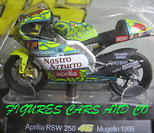 MOTO GP 1/18 APRILIA RSW 250 # 46 COLLECTION  ROSSI MUGELLO 1999