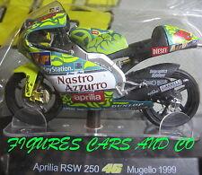 MOTO GP 1/18 APRILIA RSW 250 # 46 COLLECTION  ROSSI MUGELLO 1999