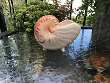 Vintage Fitz & Floyd Nautilus Shell Planter Sea Shell Shaped Legs Great Cond