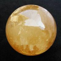 Natural Citrine Calcite Quartz Crystal Sphere Ball Healing Gemstone 100MM