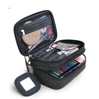 Professional 2 Layers Large Makeup Bag Cosmetic Case Storage Handle Organizer