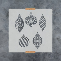 Christmas Ornaments Stencil - Durable & Reusable Mylar Stencils