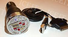 Cadillac Escalade Bling USB Phone Charger Black Madewith Swarovski Crystals USA