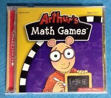 Scholastic Arthur's Math Games Software Windows Cd Rom Ages 3-7