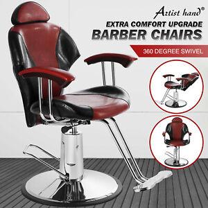 Reclining Barber Chair Hydraulic Hair Styling Salon Beauty Shampoo Spa Equipment