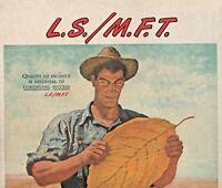 1947 Lucky Strike Cigarette Print Ad L.S./ M.F.T. Means Fine Tobacco