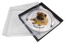 'Happy Easter' Shar-Pei Dog Glass Paperweight in Gift Box Christmas, AD-SH2DA1PW