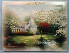 Hometown Chapel 3rd Issue 2002 Thomas Kinkade Collector Rectangle Plate