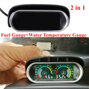 Car Truck Digital  Water Temperature Oil Pressure Gauge Panel W/Sensor Durable