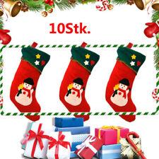 10er Weihnachtssocke Nikolaus Stiefel Strumpf Weihnachten Deko Weihnachtsstrumpf